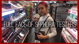 Download full face using Sephora tester makeup Video