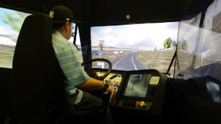 Download The Little Guy Driving The Training Simulator At Prime Inc Video