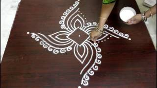 Download easy rangoli designs with dots- muggulu designs with dots- kolam designs with dots Video