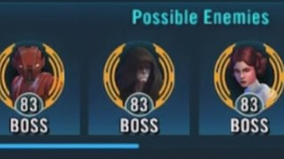 Download Star Wars: Galaxy Of Heroes - Level 83 Emperor Palpatine Cantina Last Boss Battle Video