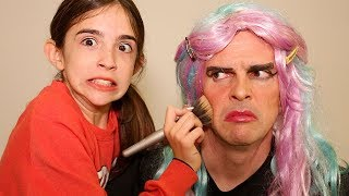 Download DOING DAD'S MAKEUP!! Video