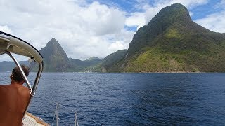 Download HR54 Cloudy Bay - sailing St. Lucia, Mar 2018 Video