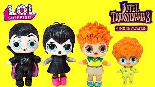 Download Hotel Transylvania 3 LOL Surprise DIY Custom Drac, Mavis, Johnny , Dennis Video