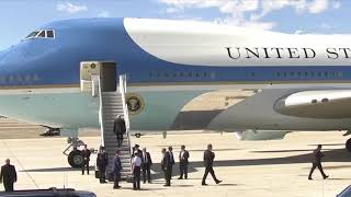 Download WATCH: President Donald Trump RUN UP AIR FORCE ONE STAIRS READY FOR PHOENIX RALLY Greets US Marines Video