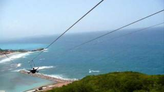 Download Dragon's Breath Zip Line (world's longest zip line over water) Labadee, Haiti Video