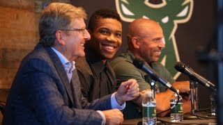Download Giannis Antetokounmpo Contract Extension Press Conference [FULL VIDEO] Video