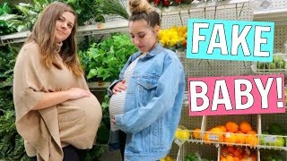 Download Pretending to be Pregnant in Public! Video