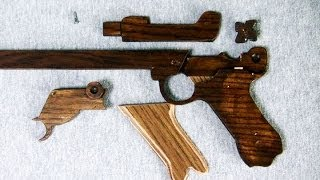 Download Structure of the rubber band gun - 8 rounds - Luger Type Video