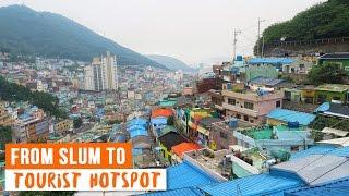 Download This Korean Slum in Busan Turned into a Tourist Hotspot ♦ Gamcheon Culture Village Video