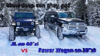 Download Jeep JL Rubicon vs Ram Power Wagon in the snow! Video