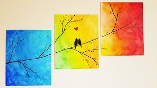 Download DIY Colorful Tree Canvas Painting ♥ Room Decor Video