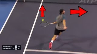 Download 20+ ″Thug Life″ No Look Tennis Shots That Will Blow Your Mind Video