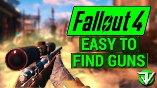 Download FALLOUT 4: Early Game EASY TO FIND Weapons! (Sniper, .44 Magnum, Shotgun, Laser Gun, and Fat Man) Video