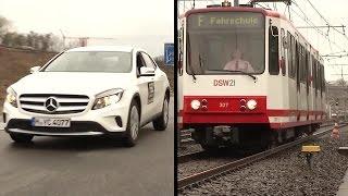 Download Bremstest: Auto vs. Straßenbahn Video