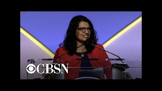Download Rep. Rashida Tlaib says ″I'm not going nowhere″ in response to ″send her back″ Video