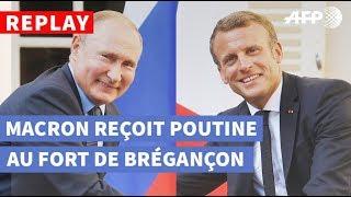Download REPLAY - Poutine reçu par Macron: les déclarations des deux chefs d'État Video
