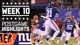 Download Giants vs. Bengals | NFL Week 10 Game Highlights Video