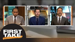 Download Will Cain debates Stephen A. and Max: Should Warriors trade for Anthony Davis?   First Take   ESPN Video