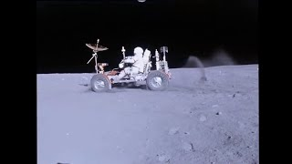 Download Lunar Rover / Buggy (LRV) on the Moon - Apollo 16 - HD Video Stabilized Video