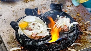 Download FLAMING BEEF and EGGS! - Must-Eat Cambodian Street Food Dish in Phnom Penh! Video