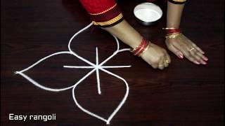 Download easy free hand rangoli designs * simpl rangoli with out dots * friday kolam *muggulu * rangavalli Video