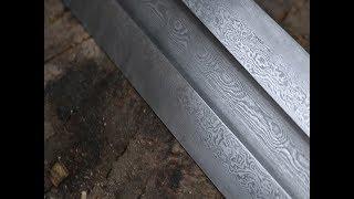 Download Forging a Damascus Viking sword part 1. Video