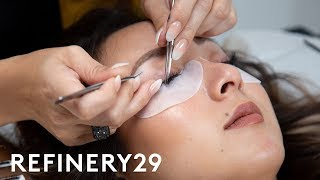 Download I Got $200 Eyelash Extensions For The First Time | Macro Beauty | Refinery29 Video