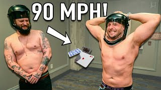 Download HIT by a 90 MPH Playing Card!! Video