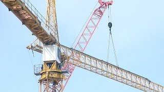 Download Tower crane #3 rises: Time-lapse compilation of assembly from start to finish Video