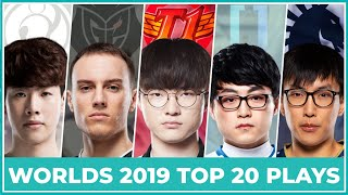 Download Top 20 Best Plays Worlds 2019 - Group Stage Video