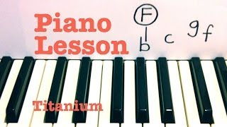 Download Titanium- David Guetta piano lesson (ft. Sia) Todd Downing Video