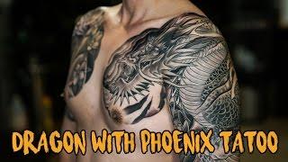 Download DRAGON WITH PHOENIX TATTOO รอยสักมังกรกับนกฟินิกซ์ Video