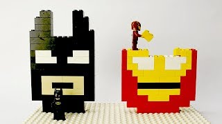 Download Lego Batman and Iron Man Brick Building Mosaics Superhero Fun Animation Video