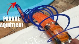 Download FIZ UM SUPER PARQUE AQUÁTICO PARA CARRINHOS COM PISTAS HOT WHEELS NA PISCINA! Video
