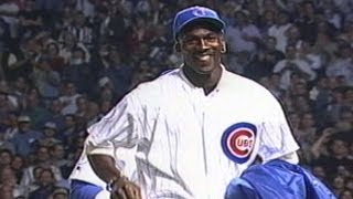 Download Michael Jordan throws out the first pitch at Wrigley Field Video