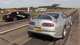 Download 1000HP Toyota Supra vs 830HP Mercedes-AMG E63s Video