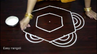 Download chukkala muggulu with 5 dots - 5 dots rangoli designs - beautiful kolam designs with dots Video
