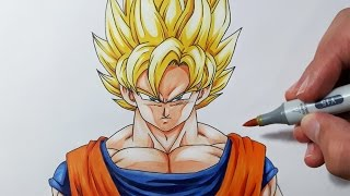 Download How to draw Goku Super Saiyan - Step by Step Tutorial! Video