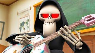 Download Spookiz | NEW Season 3 - Skeleton Teacher Plays Guitar | 스푸키즈 | Funny Videos for Kids Video