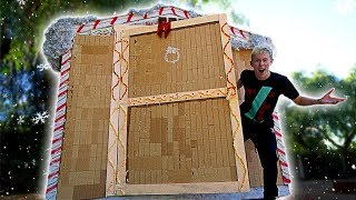 Download BUILDING HOUSE COMPLETELY OUT OF GINGERBREAD! Video