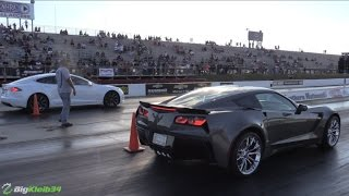 Download Tesla Model S Hustles NEW Corvette Z06 & Modded Hellcat Video