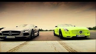Download Petrol vs Electric | Mercedes SLS AMG Battle | Top Gear | Series 20 | BBC Video