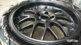 Download Black shadow chrome wheel painting Mitsubishi Evo 7 Video