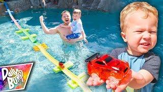 Download HUGE Swimming Pool Magic Tracks Bridge Challenge! Video