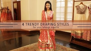 Download How To Wear Your Lehenga Dupatta In Different Styles | 4 Ways Video