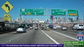 Download US 101 North (CA), Driving Road Trip into San Francisco, San Mateo to SF Video