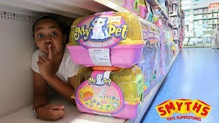 Download BEST HIDE AND SEEK SPOT IN SMYTHS TOYS STORE!!! Toys AndMe Video