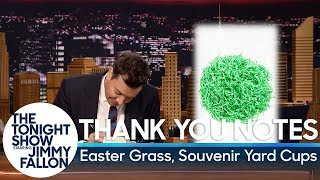 Download Thank You Notes: Easter Grass, Souvenir Yard Cups Video