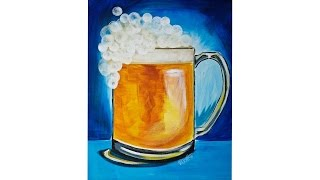 Download St Patricks Day Beer Art with Bokeh Bubble Foam Easy Acrylic painting Video