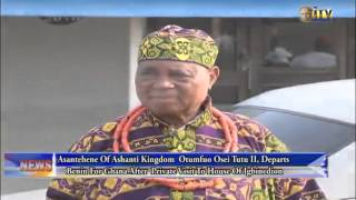 Download Asantehene Of Ashanti Kingdom Departs Benin For Ghana After Private Visit To House Of Igbinedion Video